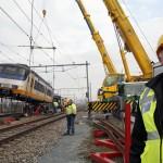 Zuid WTC Amsterdam treinontsporing